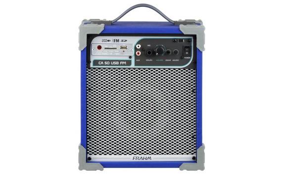 Caixa De Som Amplificada Multiuso Frahm - Ca 50 Azul
