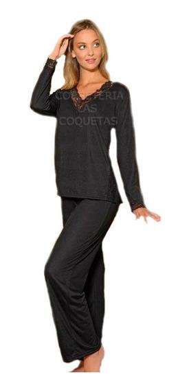 Pijama Mujer Algodon Casaca+pantalon Recto Lencatex