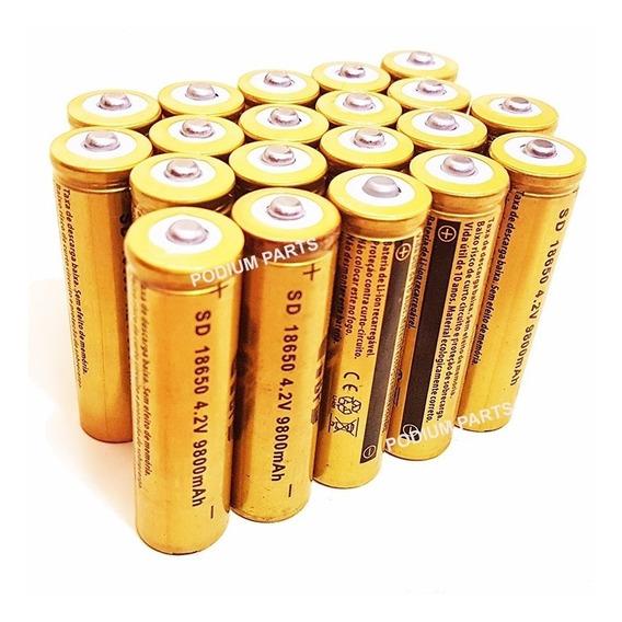 Kit 30 Baterias 18650 4,2v 9800mah Recarregável