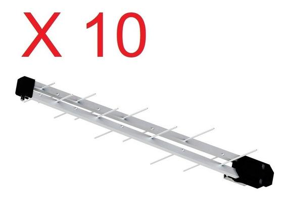 Kit 10 Antena Digital Uhf 16 Elemento Prohd1000 Proeletronic