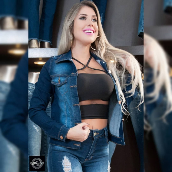 Blusa Jeans Feminina Modinha