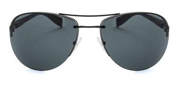 Óculos De Sol Prada Sps56m - Preto Fosco - 1bo1a1 - Na Caixa, Manuais E Nf