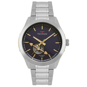 Relógio Technos Masculino Ref: 82s0ae/1a Automático Prata
