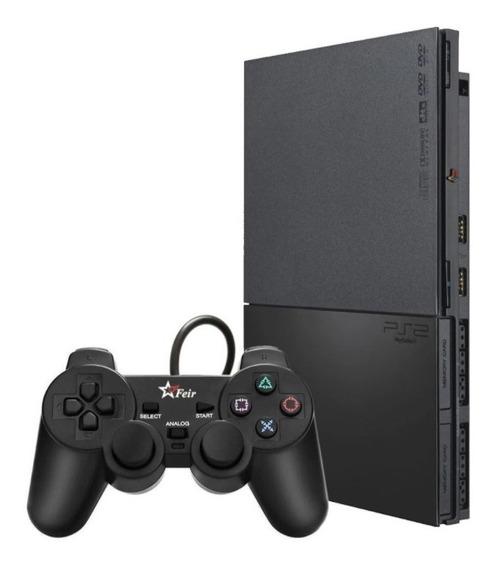 Playstation 2 Desbloqueado M+ 1 Controle + 1 M.card Com Opl
