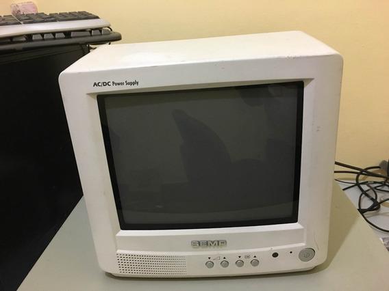 Mini Tv Semp 10 Tela Plana A/c D/c 10 Branca