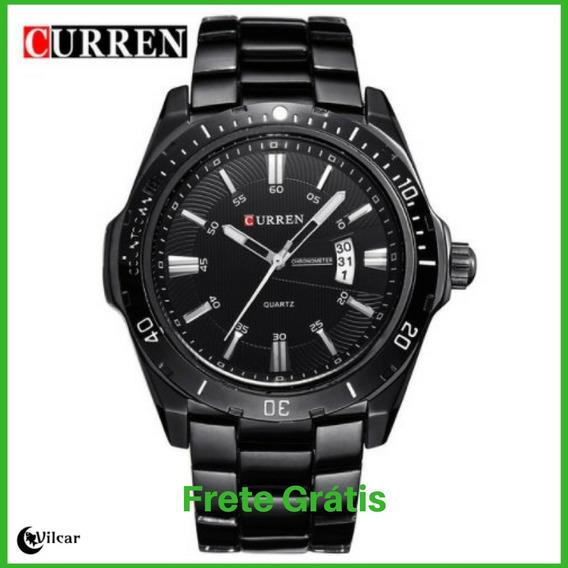 Relógio Masculino Curren 8110 Inox - Preto