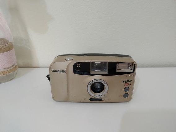 Câmera Máquina Fotográfica Antiga Samsung Fino 20 S