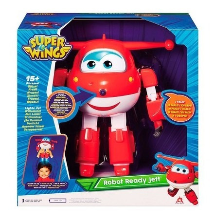 Boneco Super Wings Jett Robo Ao Resgate - 84348 Fun