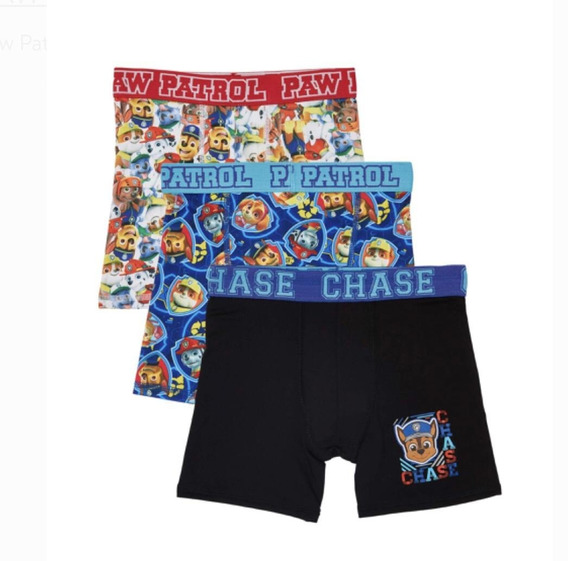 Boxer Paw Patrol De Niño Talla 4 Pack Con 3