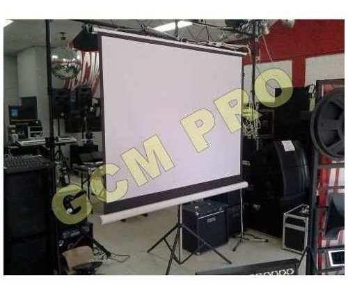 Pantalla Gigante 100 Pulgadas Con Tripode Gcm Pro