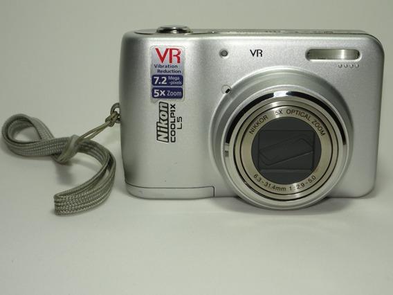 Maquina Digital Nikon Coolpix L5 A Pilha