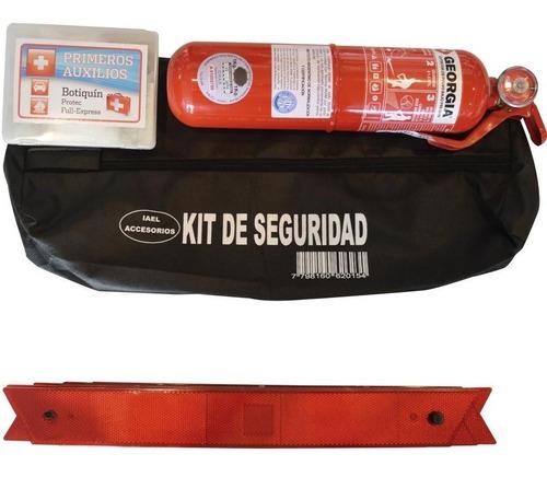Imagen 1 de 7 de Kit De Seguridad Bolso Con Matafuego Reglamentario