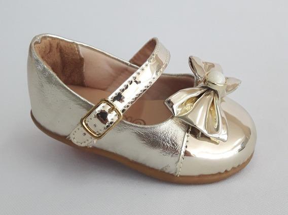 Sapatilha Infantil Menina Ouro Light Pt74-99