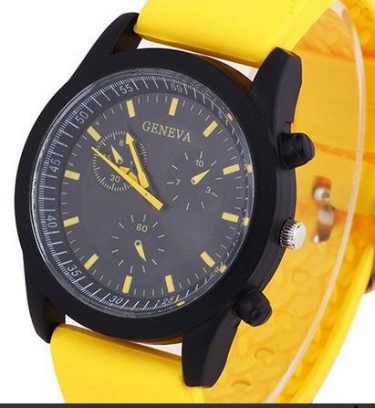 Relógio Unissex Geneva De Luxo Pulseira De Silicone
