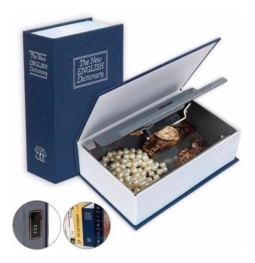 Cofre Camuflado Forma De Livro Dicionário Com Chave +nf