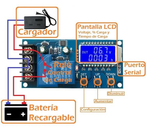 Enintel- Módulo Controlador Cargador Baterías 6-48v Xy-l30a