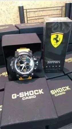 Kit Relogio Importado G-shock + Perfume Masculino Brinde!