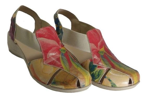 Sandalia De Cuero Con Elastico - Calzados Union- Art 503