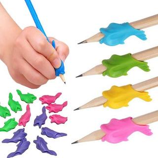 5 Un. Caligrafia Posição Correta Dedos Lápis Caneta Golfinho