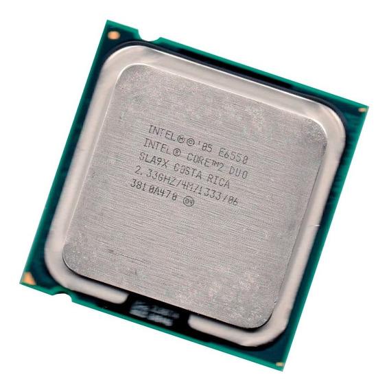 Lote 5 Processadores Intel Core 2 Duo E6550 2.33 Ghz Lga 775