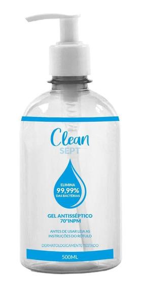 Clean Sept - Álcool Em Gel 70% 500 Ml
