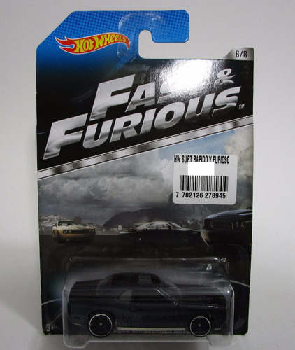Rapido Furioso Dodge Challenger Escala Pequeña Hot Wheels