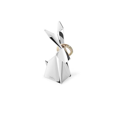 Porta-aneis Umbra Coelho Origami Cromado
