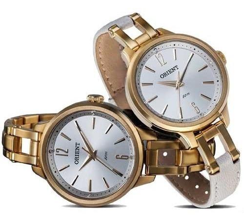 Relógio Orient Fgss0066 Kit Pulseiras Frete Grátis
