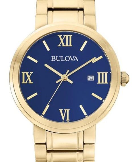 Relógio Bulova Masculino Classic Dourado - Wb26146z