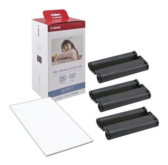 Kit De Reposição P/ Impressora Fotográfica Canon Papel Tinta