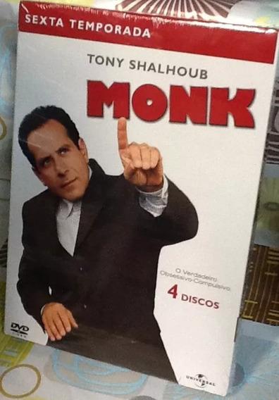 Box Original : Monk - 6ª Temporada - Lacrado - 4 Dvds