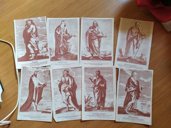 8 Encartes Rosacruz Filósofos Antigos