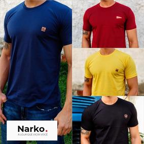 Kit 4 Camisetas Masculinas Básicas 100% Algodão- Narkótiko
