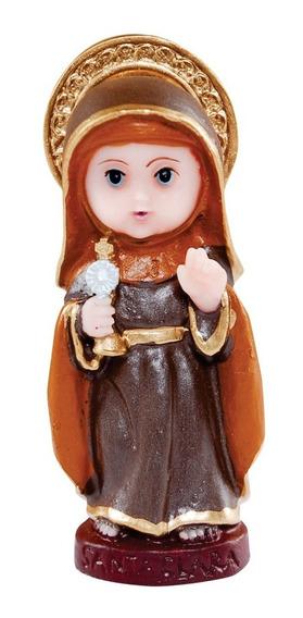 30 Imagem Santa Clara Infantil Em Resina 8cm