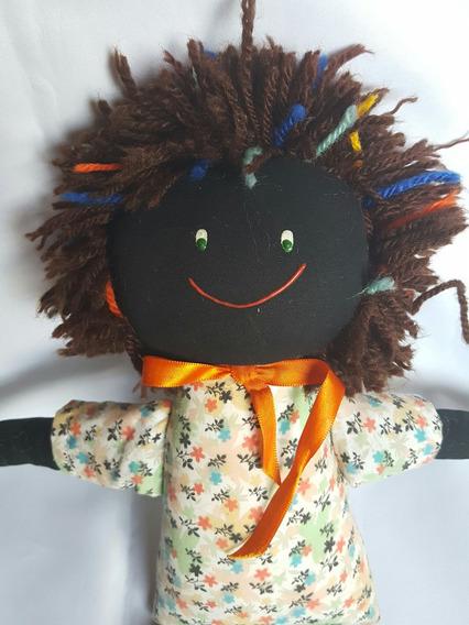 Boneca De Pano Negra 52 Cm