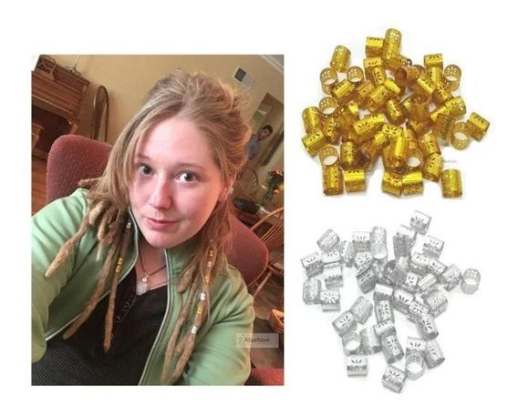 Anéis Para Dreadlock (13und Prata E 12 Unid Dourado).