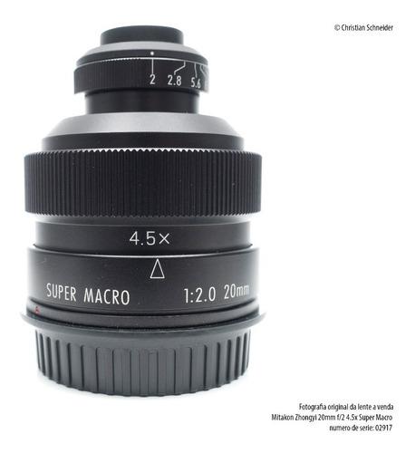Lente Super Macro Mitakon Zhongyi 20mm F/2 4.5x Canon Ef