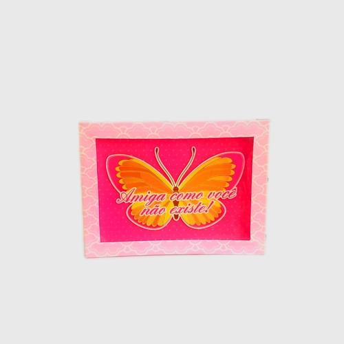 Kit 3 Caixas Cartonada Visor Retangular Amiga Butterfly 2189