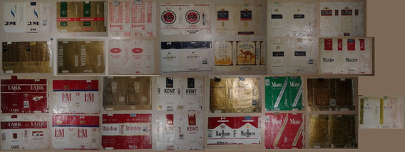 Lote De Marquillas De Cigarrillos Brasil E. U. Uruguay
