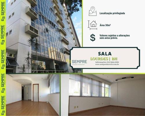 Imagem 1 de 20 de Sala Para Alugar, 30 M² - Lourdes - Belo Horizonte/mg - Sa0075