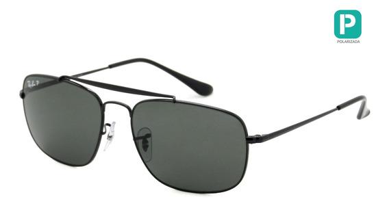 Óculos Ray Ban Rb3560 002/58 58 - Polarizado - The Colonel - Lente 58mm