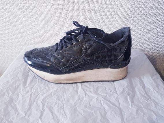 Zapatillas Negras Savage Charolada