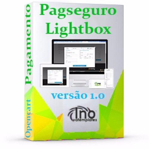 Pagseguro Lightbox Api Checkout + 2° Via Opencart 3