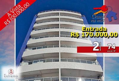 Apartamento 2 Dormitórios, 74 M² Por R$ 340.000 - Campo Da Aviação - Praia Grande/sp - Ap1017