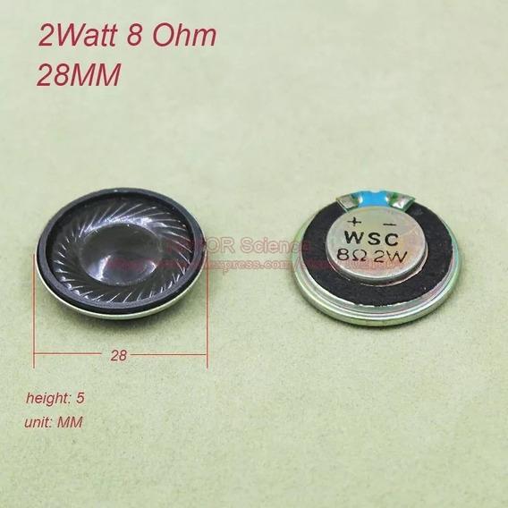 1 Mini Alto Falantes 28mm 2 Wats Rms 8 Ohms Frete R$ 10,00