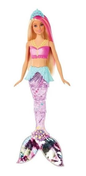 Barbie Sereia Luzes Do Arco-íris Mattel