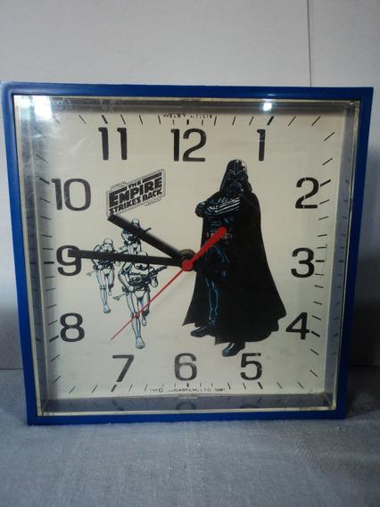 Star Wars Vintage Reloj De Pared 1981 Marca Welby