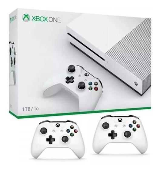 Xbox One S 1tb Novo Lacrado Com 2 Controles Originais