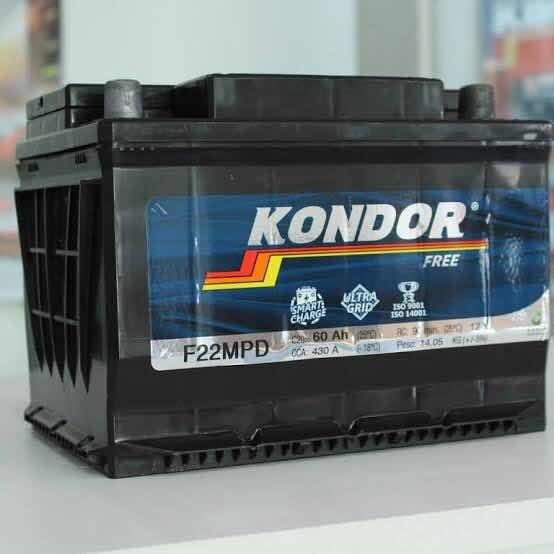 Bateria Kondor 60ah Carros