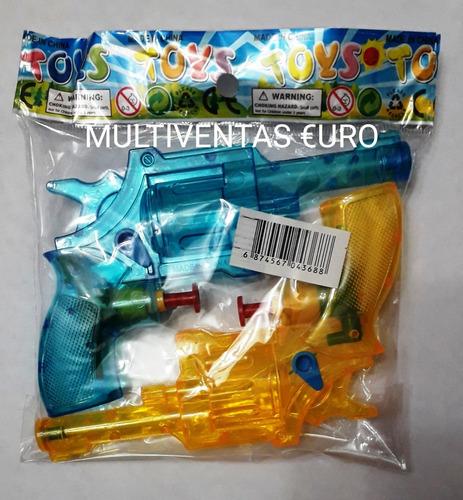 Pistola De Agua Carnaval Y Fiestas  Precio X 6 Pistolitas